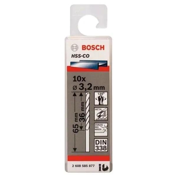 Свредло HSS-Co Standard line за метал на Bosch 3.2 mm - 10 броя