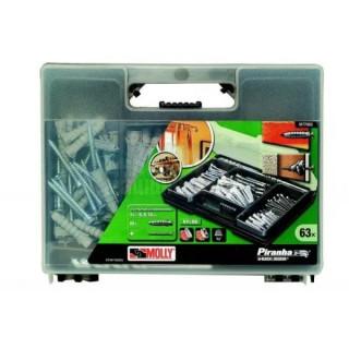 Комплект свредла и дюбели Black and Decker M77063 / 63 части в куфар /