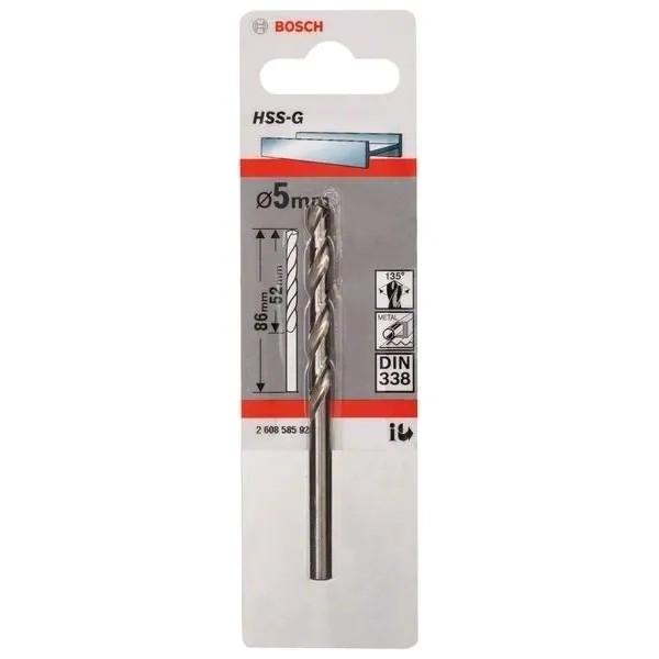 Свредло HSS-G за метал DIN 338 на Bosch 5.0 mm