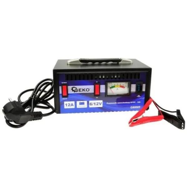 GEKO Зарядно за акумулатор GEKO G80005, 10-200 Ah, 6-12 V, 12A (G80005)