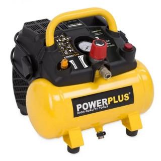 Безмаслен компресор POWER PLUS POWX1721 / 1.1kW, 6L, 8bar