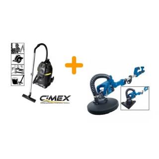 Жираф за шлайфане на стени Scheppach DS930 + Прахосмукачка за сухо и мокро почистване CIMEX VAC30L