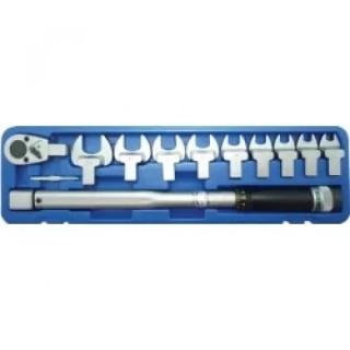 Динамометричен ключ с накрайници BGS Technic 40-210 Nm, 11 части