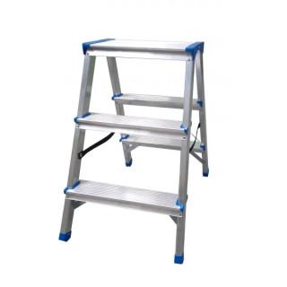 Стълба алуминиева двустранна домакинскаDRABEST 2х3