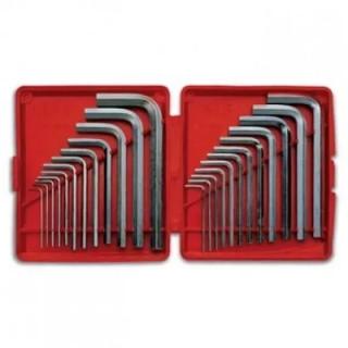 """Ключ Г-образен 6-стен комплект инчови и милиметрови Usag 280 MP/S24 2-10 мм1/20"""" - 7/16"""""""
