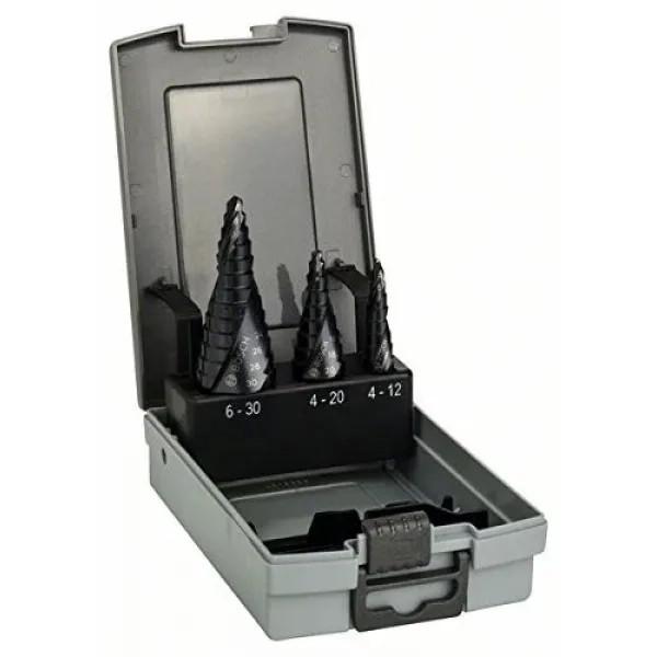 Стъпаловидно свредло HSS-AlTiN на Bosch 3 броя комплект