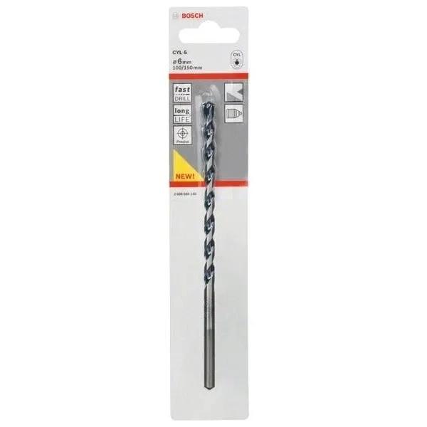 Свредлo за бетон Bosch CYL-5  6.0 mm дължина 100 mm