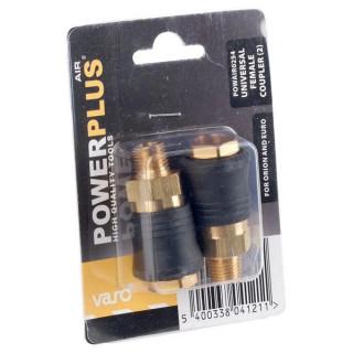 Бърза връзка и щуцер за маркуч POWER PLUS POWAIR0265 / 6мм