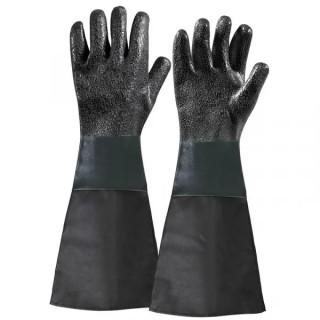Ръкавици Fervi каучукови един размер, 450 мм, черни, 0580/21