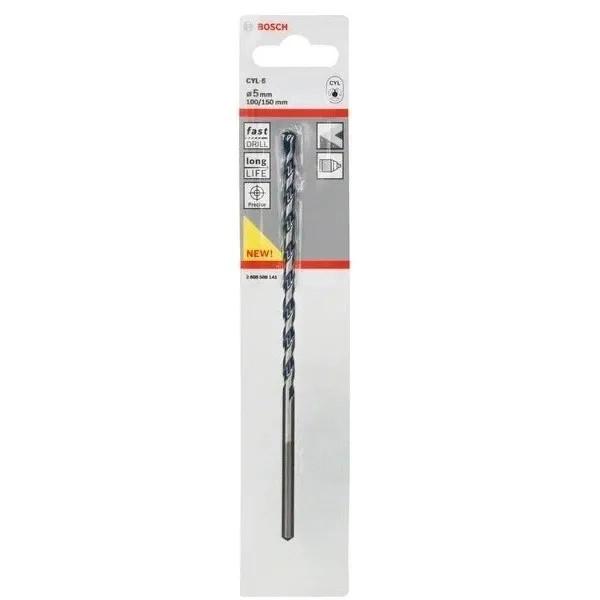 Свредлo за бетон Bosch CYL-5 5.0 mm дължина 100 mm