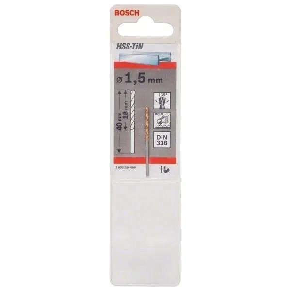 Свредлo HSS-TiN за метал на Bosch 1.5 mm