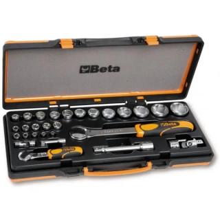 Комплект от 22 бр. шестостенни вложки и 6 бр. аксесоари в метална кутия, 902A/C22, Beta Tools