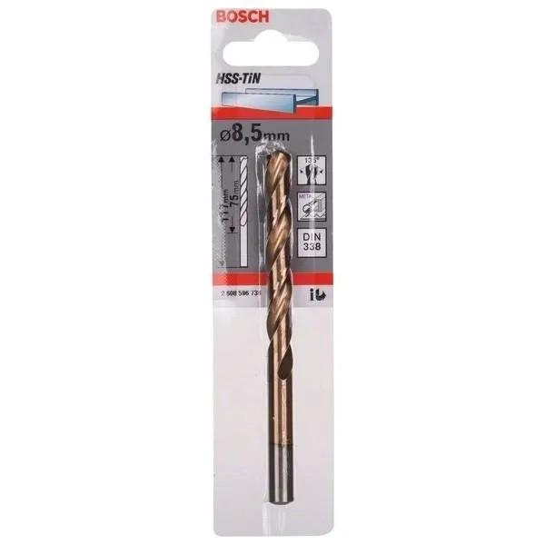 Свредлo HSS-TiN за метал на Bosch 8.5 mm