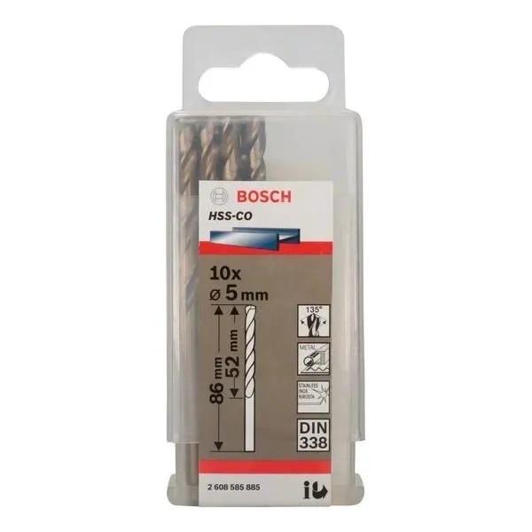 Свредло HSS-Co Standard line за метал на Bosch 5.0 mm - 10 броя