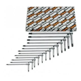 Комплект Т-образни шестограми, тристранни, 951/S6, Beta Tools