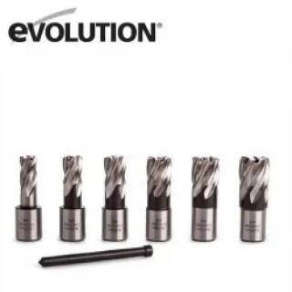 Фрези за магнитна бормашина Evolution EVO42, 25мм -Комплект 6 бр.