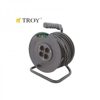 Електрически разклонител с макара TROY T 24050