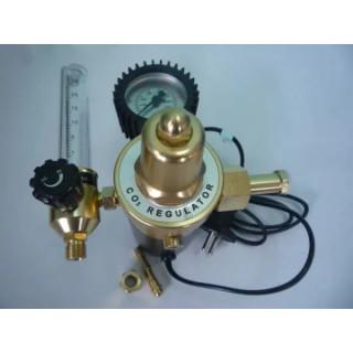 Редуцир вентил за СО2/Аргон с флоуметър и подгревател 220В, TIG TAG