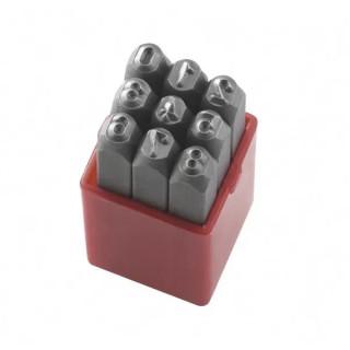 Цифри Fervi за ръчно набиване комплект 9 бр., 8 мм, P012/N08