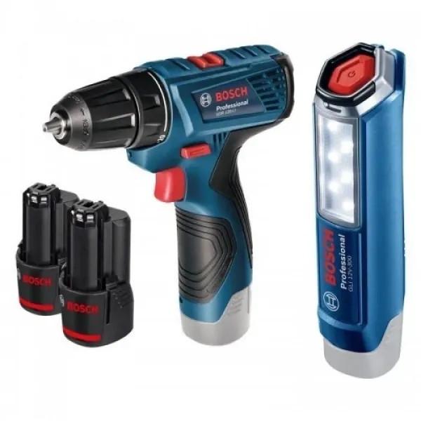 Акумулаторен винтоверт Bosch GSR 120-Li + лампа GLI 12V-300