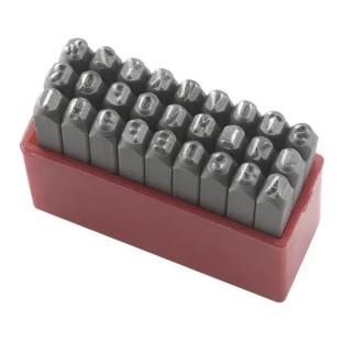 Букви Fervi за ръчно набиване латиница комплект 27 бр., 6 мм, P012/L06