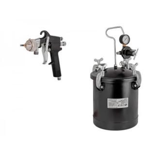 Боядисващ пистолет с казанче и маркуч Raider RD-PT02