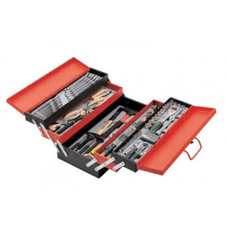 Инструментална кутия 5 отделения комплект със 101 части