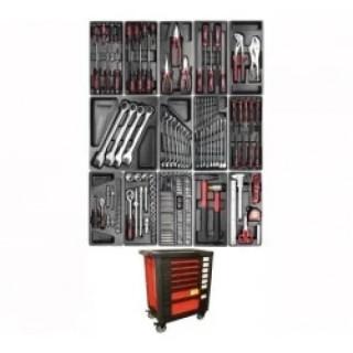 Професионална количка за инструменти, напълно оборудвана BGS Technic, Kraftmann