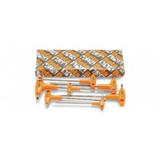 Комплект шестограми с Т- образна дръжка, 96T/S5P, Beta Tools