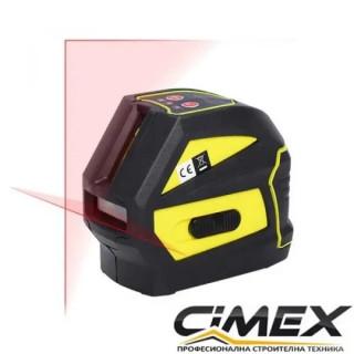 Лазерен нивелир кръстосани линии CIMEX SL20M