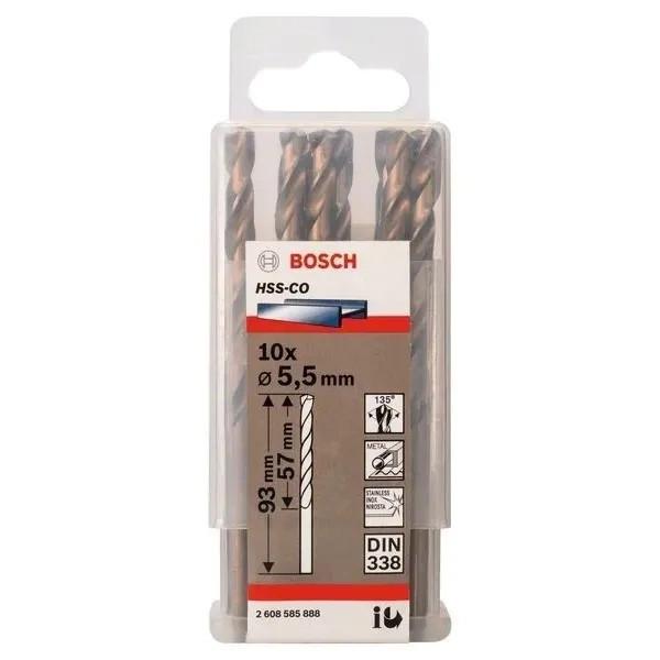 Свредло HSS-Co Standard line за метал на Bosch 5.5 mm - 10 броя