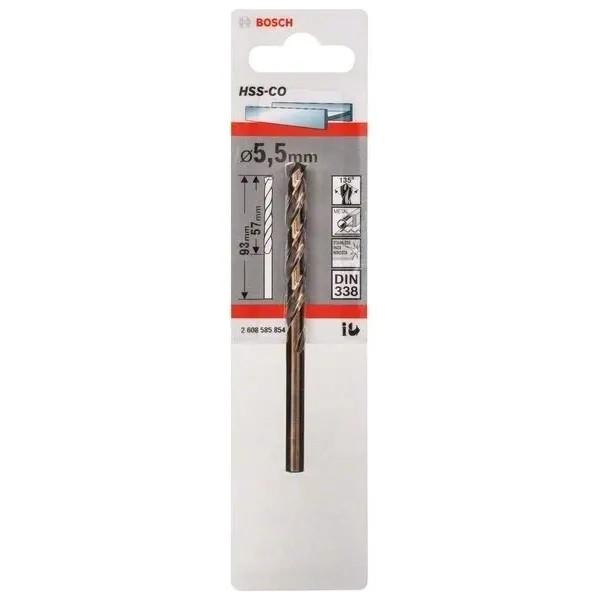 Свредло HSS-Co DIN 338 за метал на Bosch 5.5 mm
