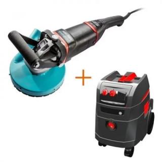 Фреза за бетон Collomix CMG 2600 + електрическа прахосмукачка за сухо и мокро почистване Collomix VAC 35 M