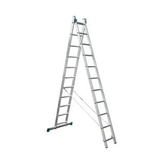 Професионална двураменна алуминиева стълба KRAUSE CORDA 2х11