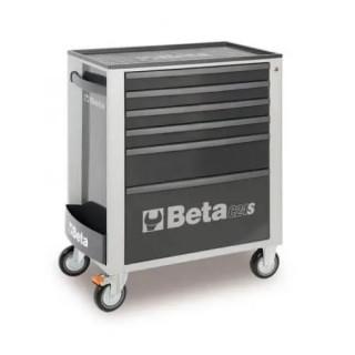 Количка за инструменти BETA, 6 чекмеджета, сив цвят