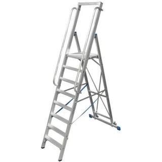 Двураменна алуминиева стълба с голяма платформа Krause Stabilo 8