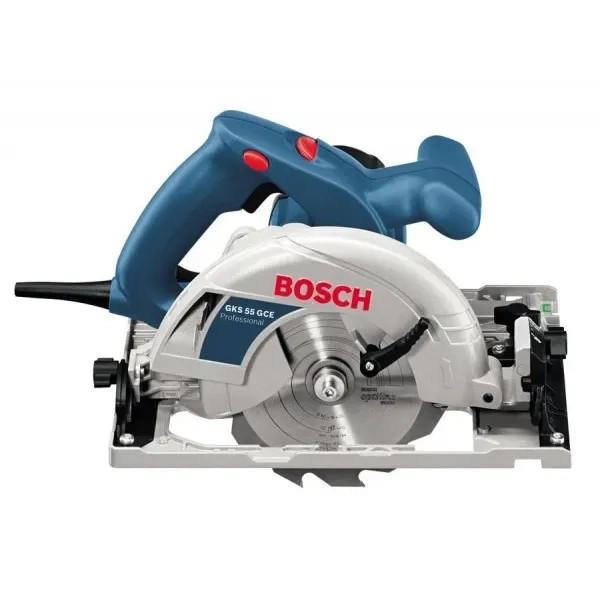 Ръчен циркуляр Bosch GKS 55 GCE L-Boxx 1350W