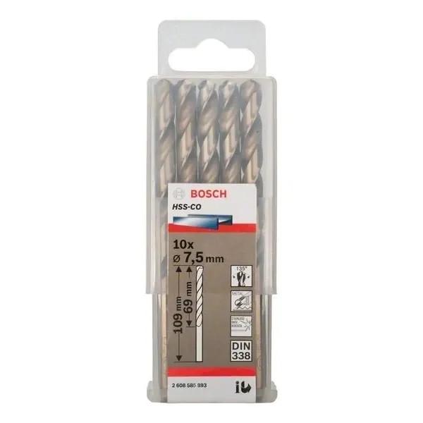 Свредло HSS-Co Standard line за метал на Bosch 7.5 mm - 10 броя