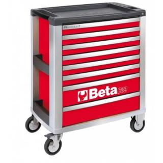 Количка за инструменти BETA, 8 чекмеджета, червен цвят