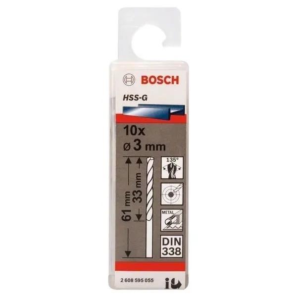 Свредло HSS-G за метал на Bosch 3.0 mm комплект 10 броя
