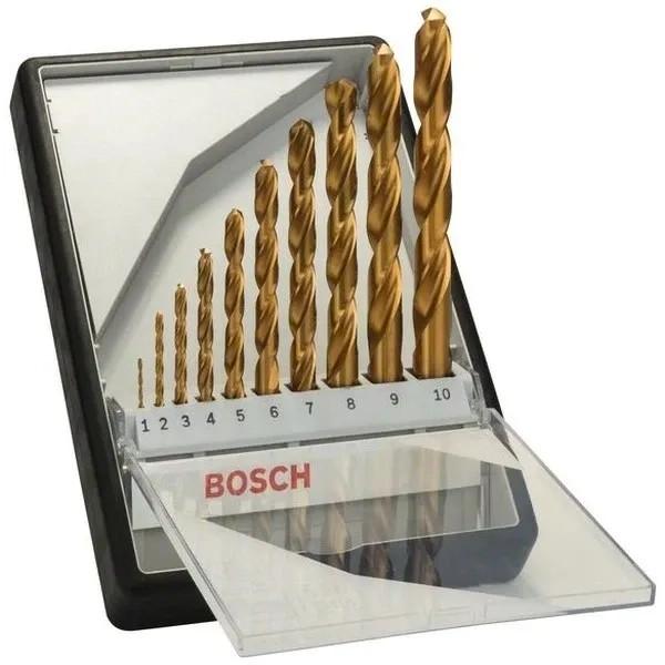 Свредла HSS-TiN за метал на Bosch комплект 10 броя