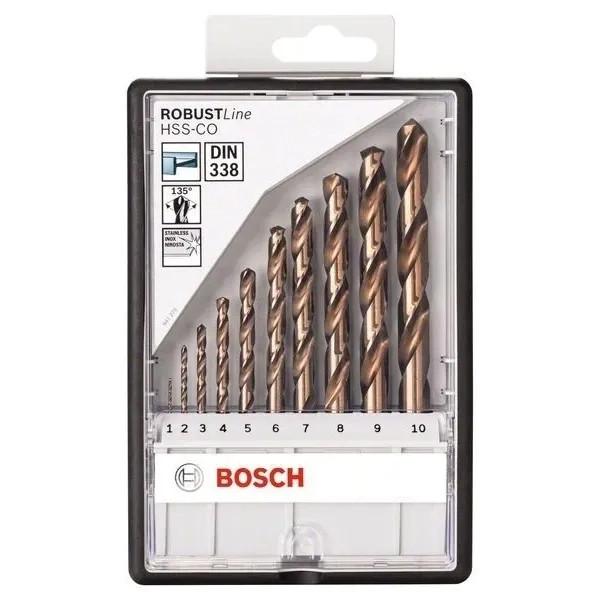 Свредла HSS-Co за метал на Bosch - 10 броя в кутия