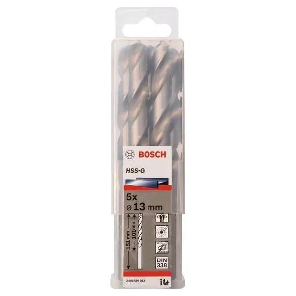 Свредло HSS-G за метал на Bosch 13.0 mm комплект 5 броя