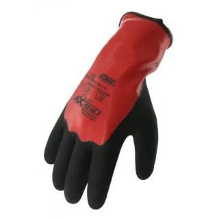 Двойно латексови ръкавици закалени в син нитрил (12 бр.)