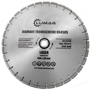 Диамантен диск за бетон LUMAG DS450T / 450 mm