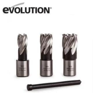 Фрези за магнитна бормашина EVOLUTION EVO42, 25mm-3бр