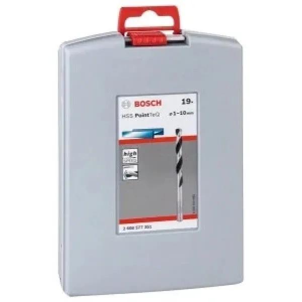 Комплект свредла Bosch HSS PoinTec 19 броя ProBox