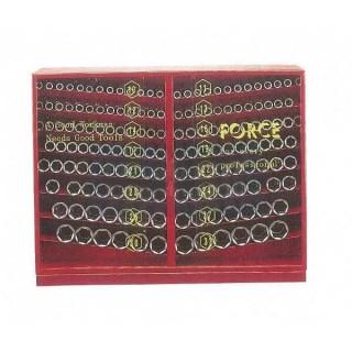 """Инструментален шкаф с вложки 1/2"""" комплект със 163 части"""