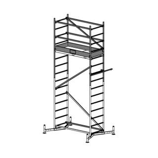 Алуминиево скеле KRAUSE ClimTec модул 0 + 1 надстройка 5 м