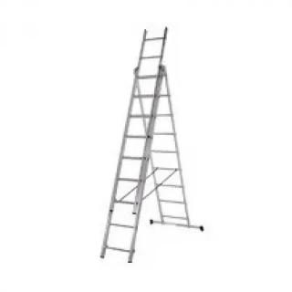 Алуминиева три секторна стълба 3х9